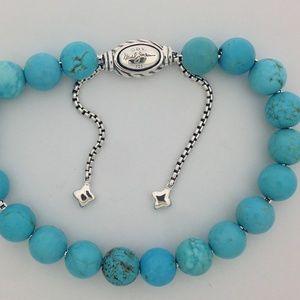 David Yurman Spiritual Turquoise Bead Bracelet